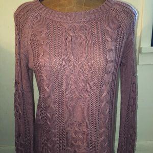 Arizona mauve cable knit sweater